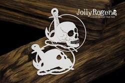 Chipboard - Skull with an Anchor - layered