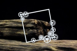 Chipboard - Industrial Factory – Square cogs frame