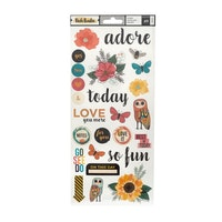 icky Boutin Wildflower & Honey sticker 15.2x30.5cm 2pcs