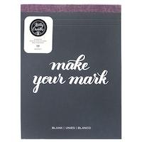 "Blank pad 8,5x11"" x50 - Kelly Creates"