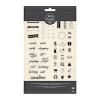 Stamp planner words and icons 58pc - Kelly Creates