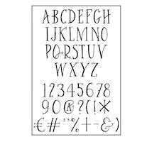 Clear Stamp A6 Alphabet Curve