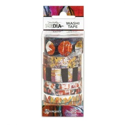 Dina Wakley media washi tape -2 assorted 6x5,5m