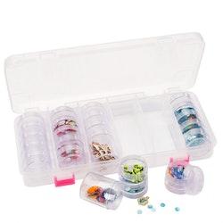 Storage box + 28 compartments