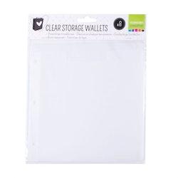 8 pcs Clear storage wallets - Vaessen Creative