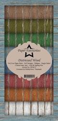 "Paper Favourites Slim Card ""Distressed Wood"""
