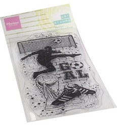 Marianne Design Clearstamp Art Stamps - Soccer