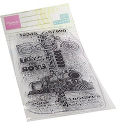Marianne Design Clearstamp Art Stamps - Toys for boys