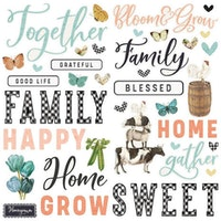 Simple Stories Foam Stickers 56/Pkg - SV Farmhouse Garden