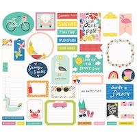 Simple Stories Die-Cuts 39/Pkg - Sunkissed Journal
