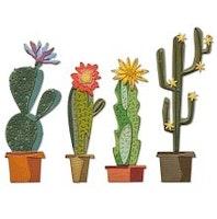 Tim Holtz Sizzix Thinlits Dies - Funky Cactus