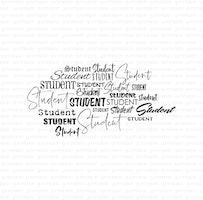 """Stämpel """"Studentbakgrund"""""""