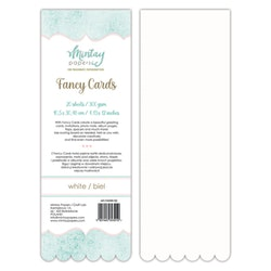 FANCY CARDS - WHITE 02, 20 SHEETS