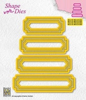 "NS SHAPE DIES ""Set of 4 tags - 5"""