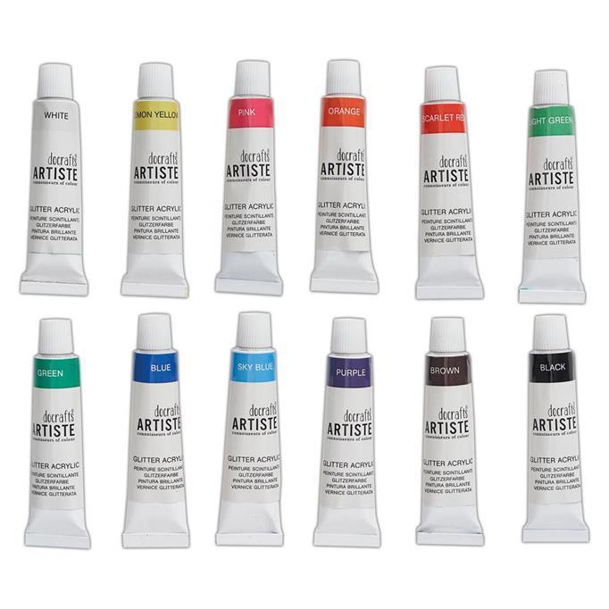 Artiste Acrylic Paint Set - Glitter