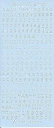 Nellie Snellen - Stickers Alfabet - Ljusblå