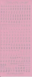 Nellie Snellen - Stickers Alfabet - Rosa