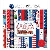 Carta Bella God Bless America 6x6 Inch Paper Pad