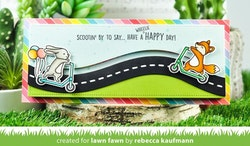 Lawn Fawn Scootin' By Dies