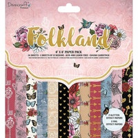 Dovecraft Folkland 8x8 Inch Paper Pad