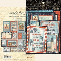 Graphic 45 . Catch of the Day Die-cut Assortment