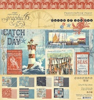 Graphic 45 - Catch of the Day 8x8 Inch Paper Pad
