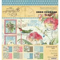 Graphic 45 - Bird Watcher 8x8 Inch Paper Pad