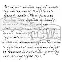 The Crafter's Workshop Believe Script 6x6 Inch Stencil