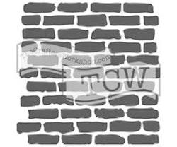 The Crafter's Workshop Bricks 6x6 Inch Stencil
