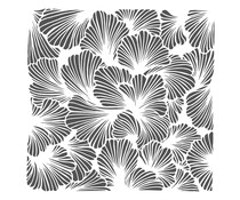 The Crafter's Workshop Lush Petals 6x6 Inch Stencil