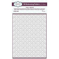 """Creative Expressions 3D Embossingfolder """"Twill Weave"""""""