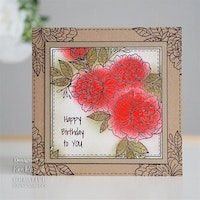 """Woodware Clearstamp """"Camellia Spray"""""""