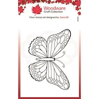 """Woodware Clearstamp """"Mini Wings - Marsh Fritillary"""""""
