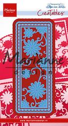 MD CUT/EMB - Anja's flower rectangle