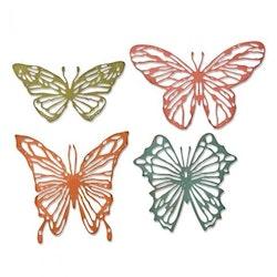 """SIZZIX/TIM HOLTZ THINLITS DIE """"Scribbly Butterflies"""""""