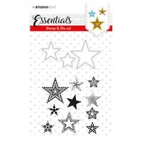 Studio Light • Stamp & die cut A6 Stars