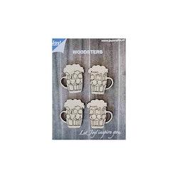Joy!Crafts -  Wooden Beer mugs