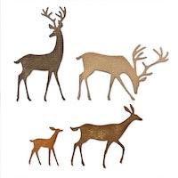Sizzix - Thinlits craft dies set Darling deer