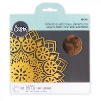 """Sizzix - Effectz Decorative foil sheets gold 6"""" x 6"""" 10 shts"""