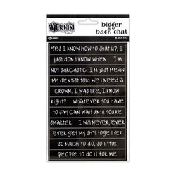 Dylusions chat sticker black