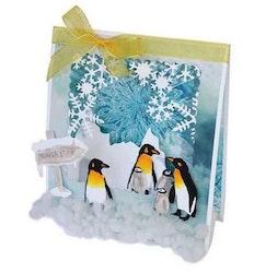 Joy - Cut- embos- debosstencil Penguin family