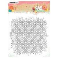 Studio Light • Clear stamp background Say it with ...