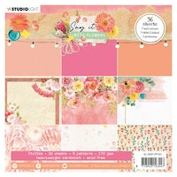 Studio Light 6x6 Paper pad Pattern Paper - Say it with ...