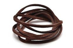 Brunt mocka/läderband imitation - 1m x 3mm