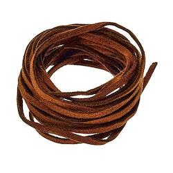 Ljusbrun mocka/läderband imitaion - 1m x 3mm