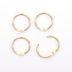 Book binding rings 25mm 12pcs Gold