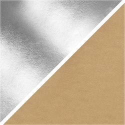 1 m Läderpapper - Silver