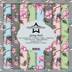 Paper Favourites Paper Pack 6x6 - Spring Birds