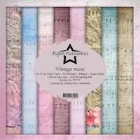 Paper Favourites Paper Pack 6x6 - Vintage music