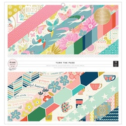 Pink Paislee - Paige Evans paper pad 12x12 - Turn The Page